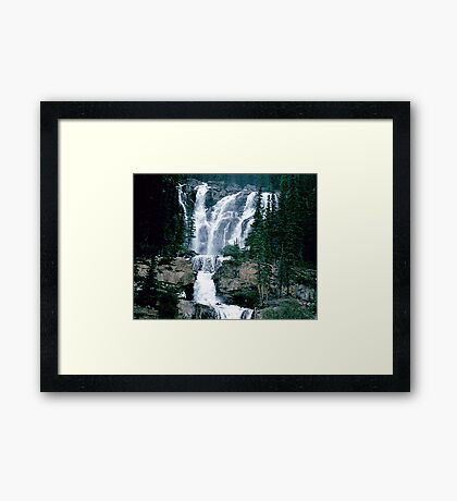 Rocky Mountain Waterfall Framed Print