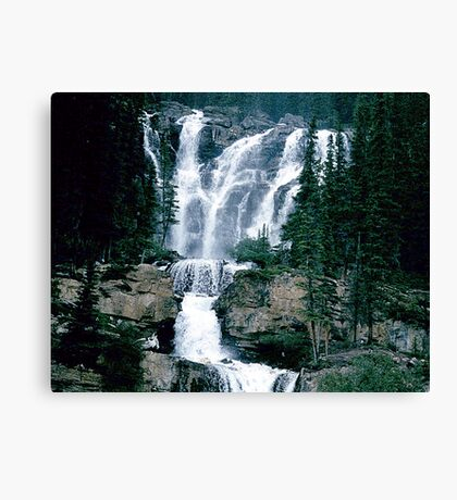 Rocky Mountain Waterfall Canvas Print