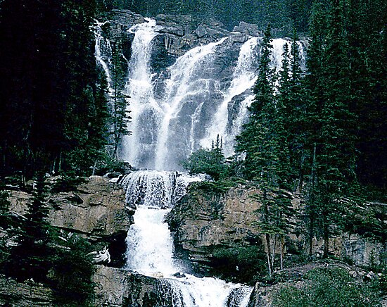 Rocky Mountain Waterfall by George Cousins