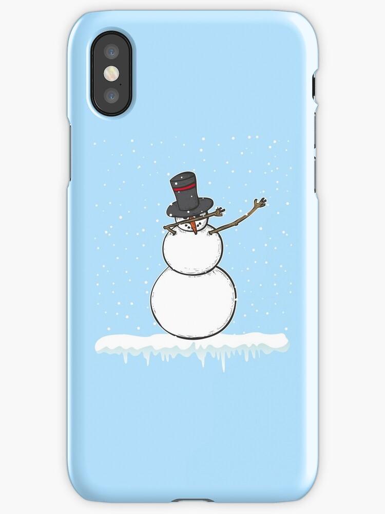 Frosty Dabbing Snowman Artsy Christmas Winter Gift\
