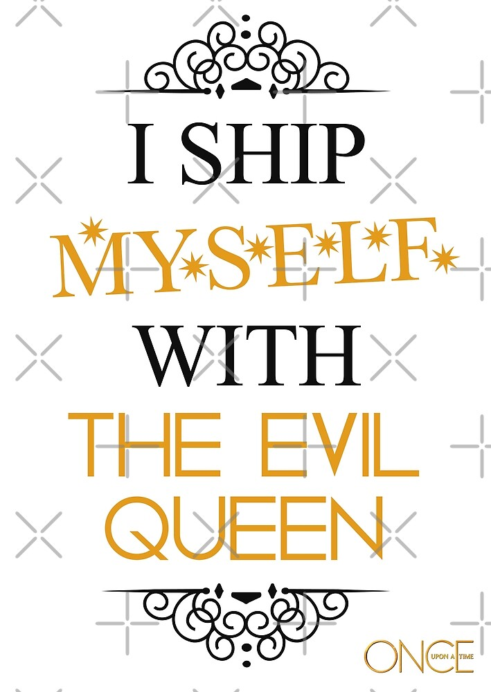 I ship myself with the Evil Queen by AllieConfyArt