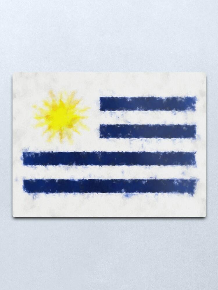 Alternate view of Uruguayan Flag Reworked No. 66, Series 5 Metal Print