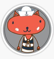 Nautical Adventures: Sailor Cat Sticker