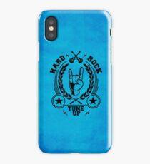Hard rock blue iPhone Case