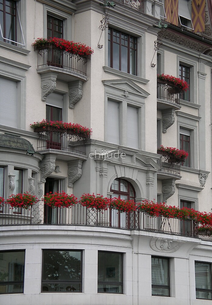 Windows and Flowers from Luzern by chijude