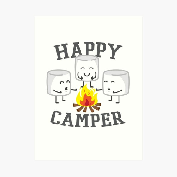 Happy Camper Marshmallows Design Art Print