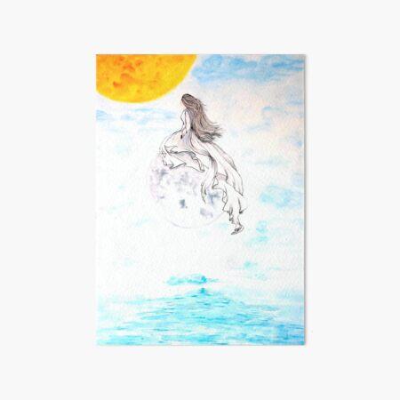 Moon Lady Art Board Print