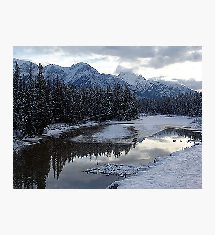 Reflections of Winter, Rocky Mountains Photographic Print