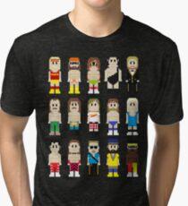 8-Bit Wrestlers! Tri-blend T-Shirt
