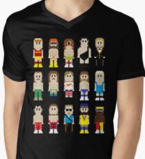 8-Bit Wrestlers! Men's V-Neck T-Shirt
