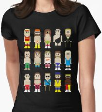 8-Bit Wrestlers! Women's Fitted T-Shirt