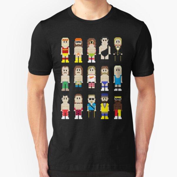 8-Bit Wrestlers! Slim Fit T-Shirt