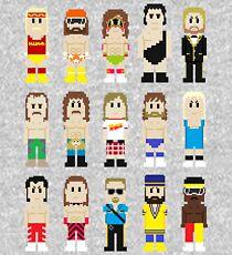 8-Bit Wrestlers! Kids Pullover Hoodie
