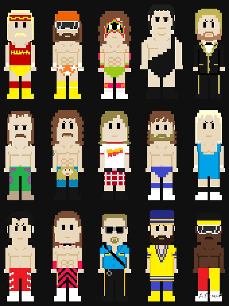 TShirtGifter presents: 8-Bit Wrestlers! | Unisex T-Shirt