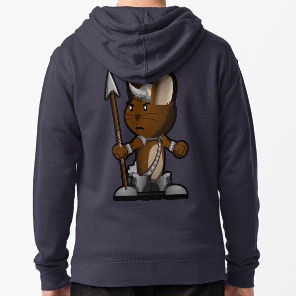 Lars The Viking Bunny Zipped Hoodie