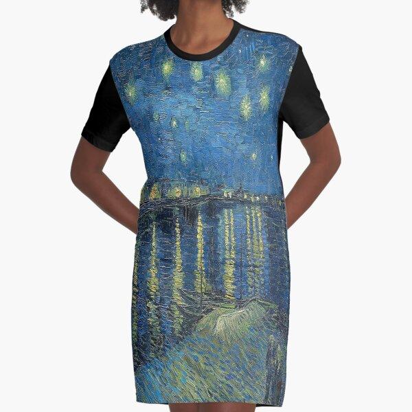 Noche estrellada sobre el Ródano - Vincent van Gogh Vestido camiseta