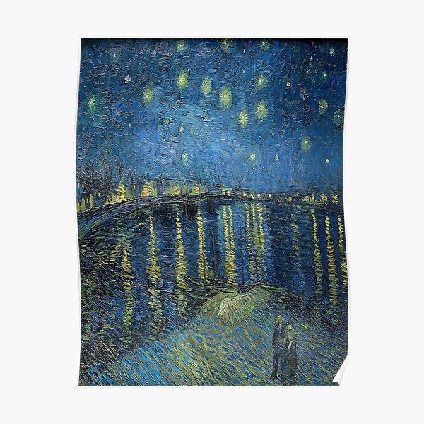 Nuit étoilée sur le Rhône - Vincent van Gogh Poster