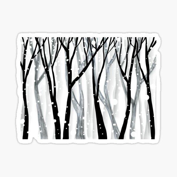 Winter Snowfall Sticker