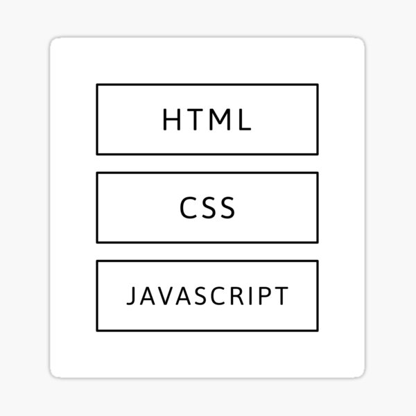 HTML, CSS & JavaScript Developer (Inverted) Sticker
