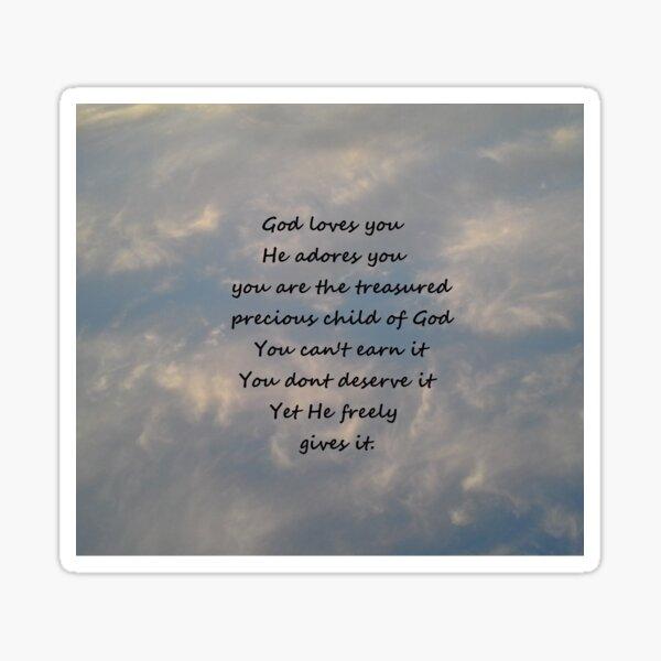 You are God's Treasured Child Sticker