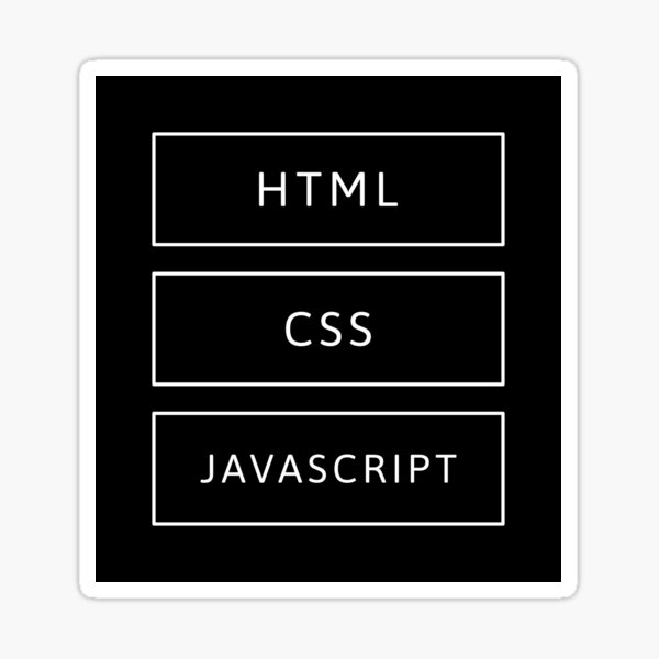 HTML, CSS & JavaScript Developer Sticker