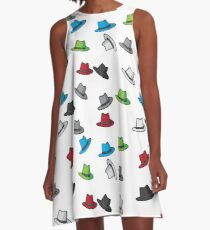 Colored Fedora's A-Line Dress
