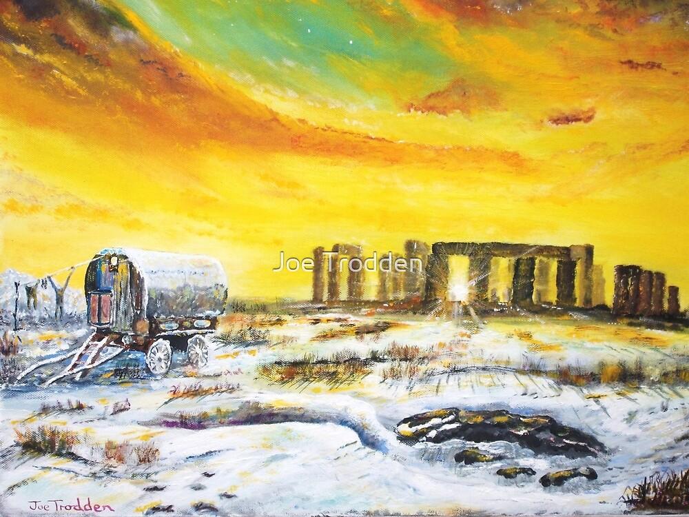 Stonehenge in the winter of 47. by Joe Trodden