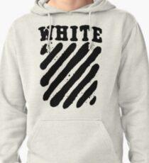 Off White Grunge Black Pullover Hoodie