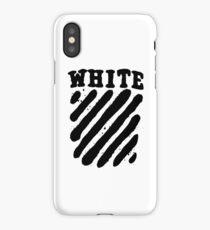Off White Grunge Black iPhone Case