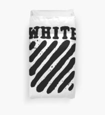 Off White Grunge Black Duvet Cover