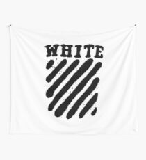 Off White Grunge Black Wall Tapestry