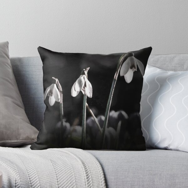snowdrops.... by Phil Darby Throw Pillow