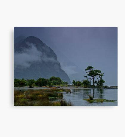 milford sound new zealand Canvas Print