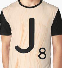 Scrabble Letter J - Full Alphabet Scrabble Tile Art Graphic T-Shirt
