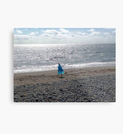 Windblown Lady Metal Print