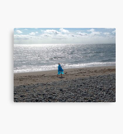 Windblown Lady Canvas Print