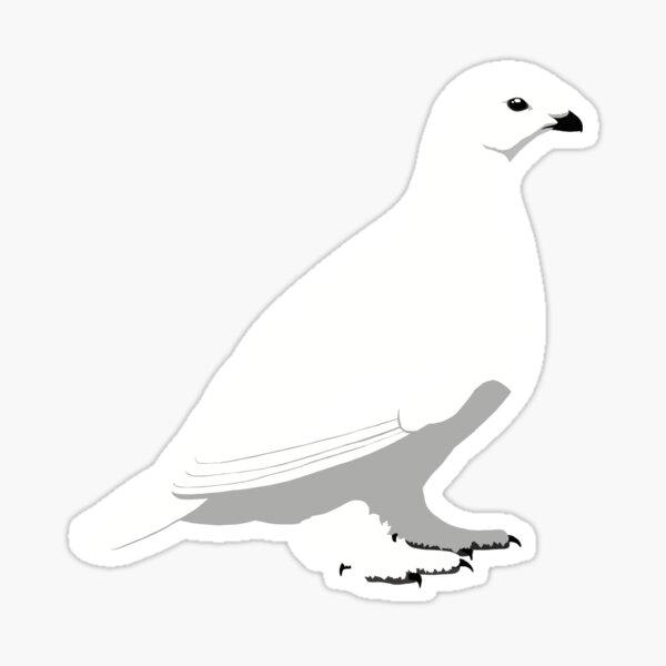 White-tailed Ptarmigan - winter Sticker