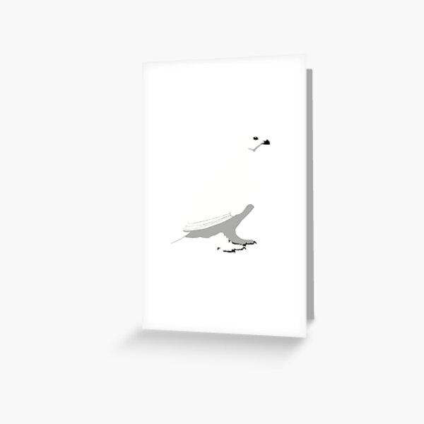 White-tailed Ptarmigan - winter Greeting Card