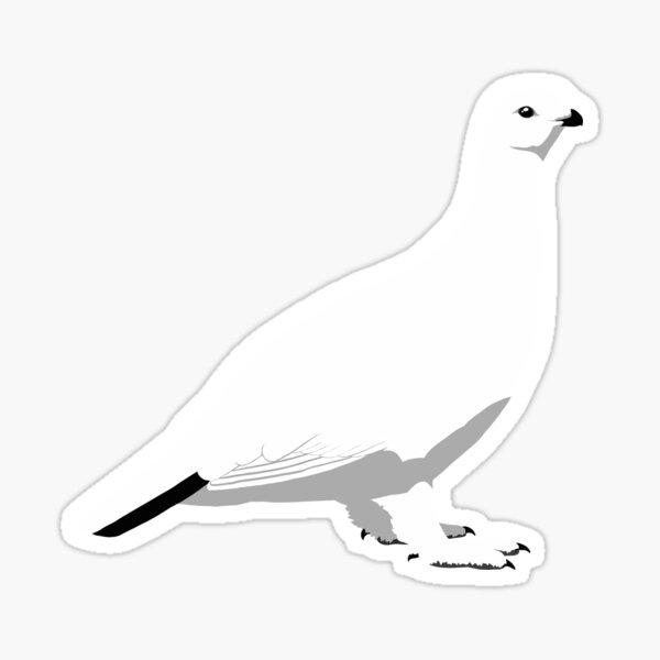 Willow Ptarmigan - winter Sticker