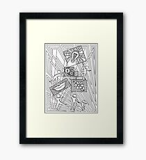 Community People Working Together Framed Print