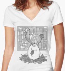 Dodo Bird Women's Fitted V-Neck T-Shirt
