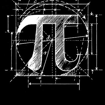 Pi Symbol Sketch White by SymbolGrafix