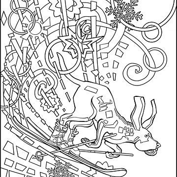 Hound Dog Illustration by ellemrcs