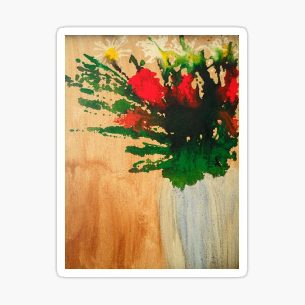 """""""Flowers in a Vase"""" Original by Tony DuPuis Sticker"""