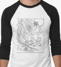 Hound Dog Illustration Men's Baseball ¾ T-Shirt