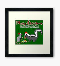 Merry Christmas Ya Filthy Animals Gift Idea Framed Print