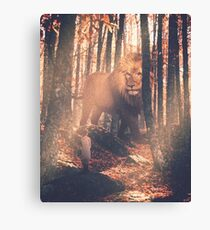 Aslan and Lucy Canvas Print
