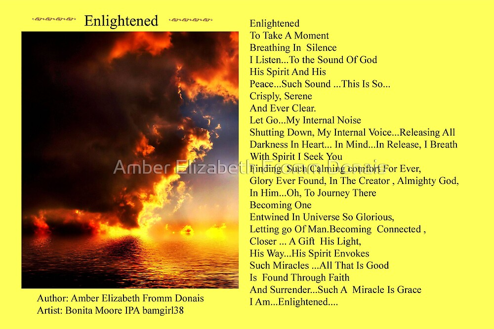 Enlightened with the Rockin bamagirl by Amber Elizabeth Fromm Donais