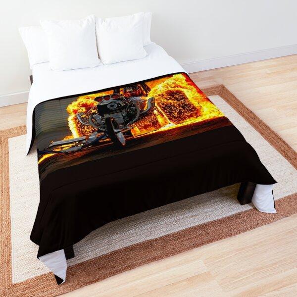 DRAG RACE; Vintage Automobile Burn-Out Print Comforter
