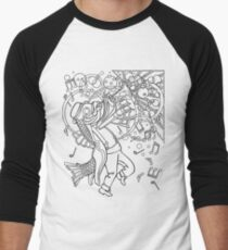 Fish with Trumpet Men's Baseball ¾ T-Shirt